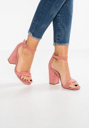 RICHES - Sandały na obcasie - light pink
