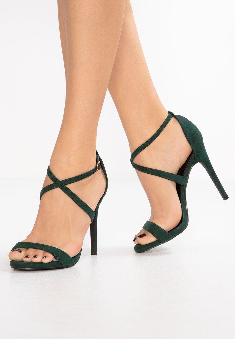 New Look - SARINA - Sandály na vysokém podpatku - dark green