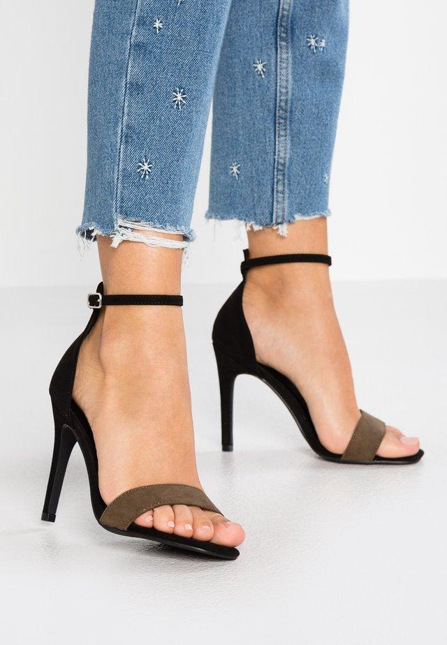 ROCKET - Sandalen met hoge hak - dark khaki