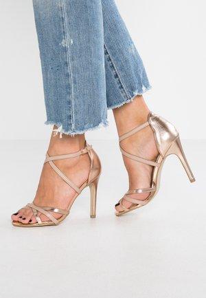 SENSIBLE - Sandaler med høye hæler - rose gold