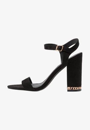 RAINY - High heeled sandals - black