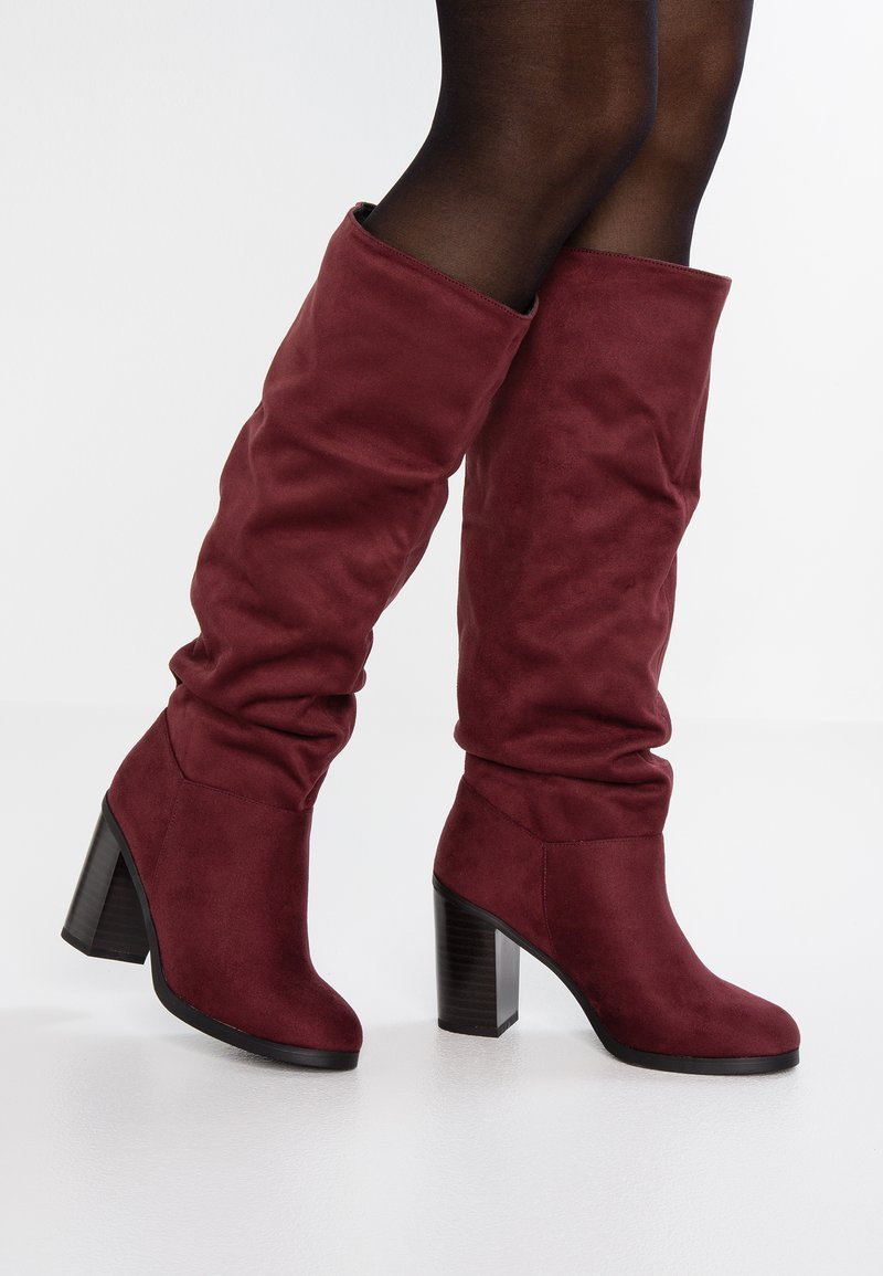 New Look - BOWLING - High heeled boots - dark red