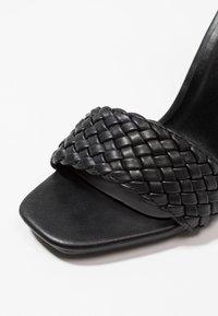 New Look - WEAVY - Sandales à talons hauts - black - 2