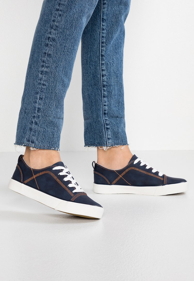 New Look - MONTRAST - Trainers - navy