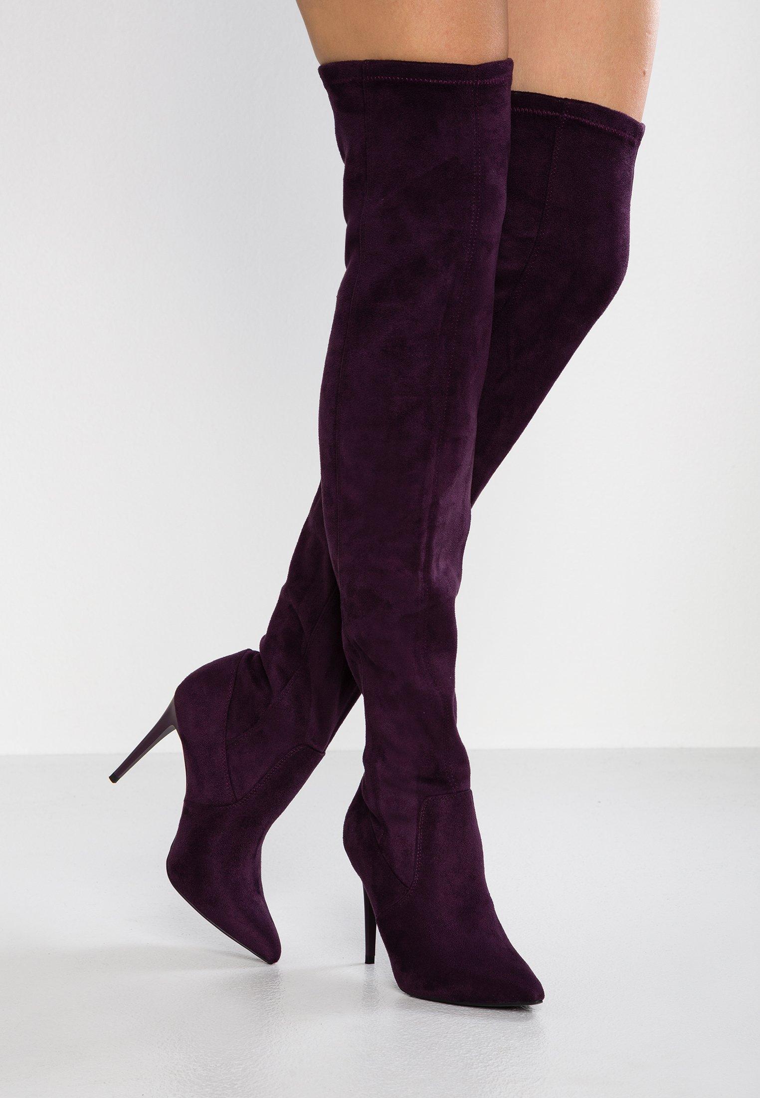 Bronx AMERICANA HIGH Stivali con i tacchi purple