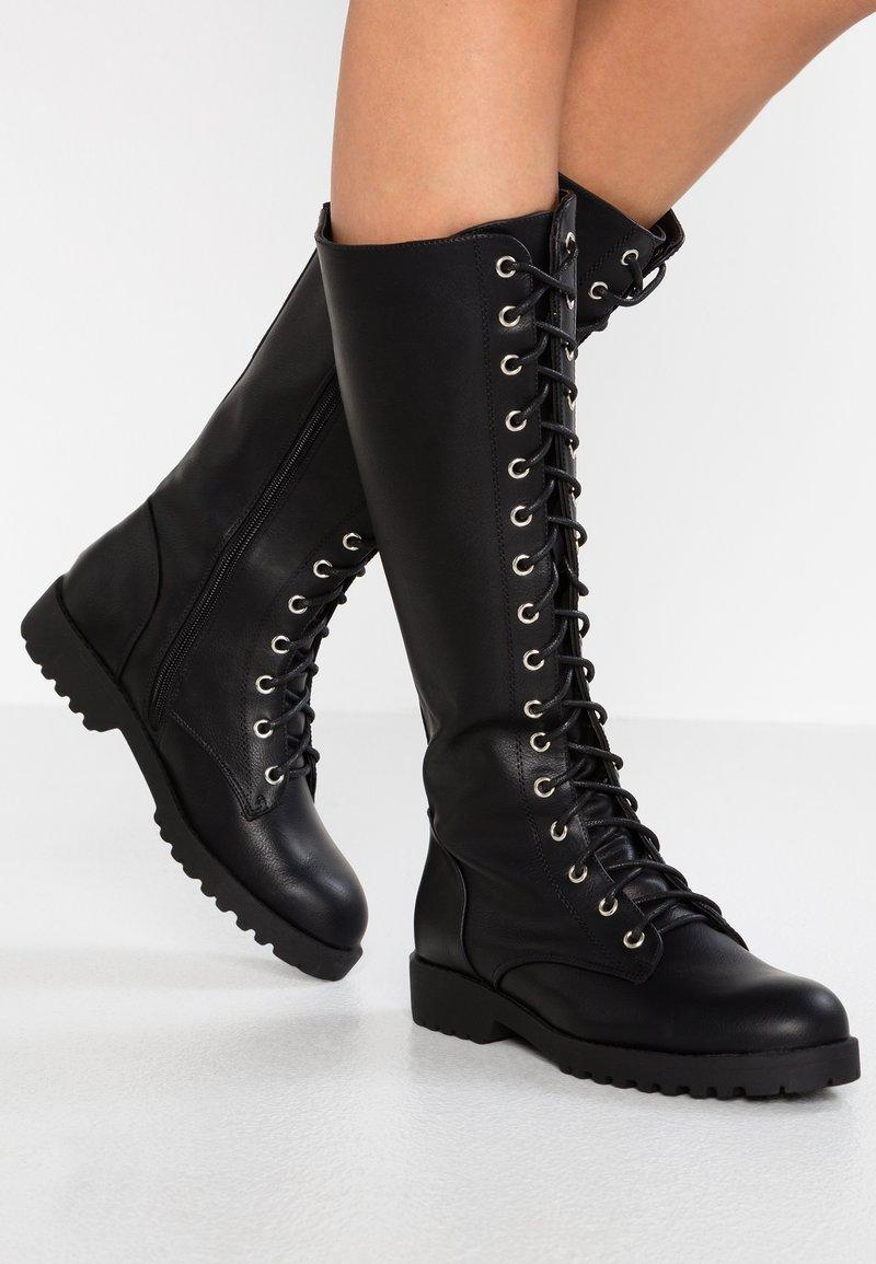 New Look - BRAVO - Snørestøvler - black
