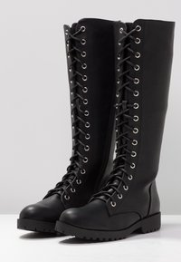 New Look - BRAVO - Snørestøvler - black - 4