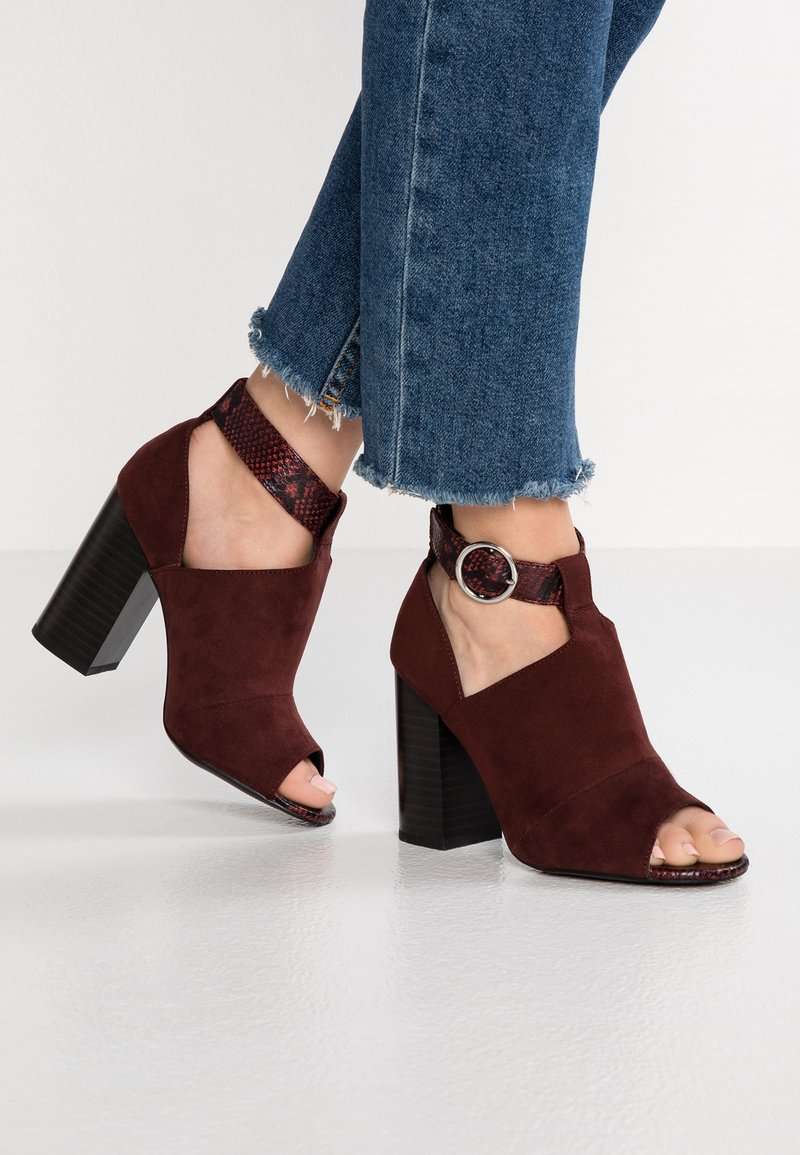 New Look - SHAMOO - High Heel Sandalette - dark red