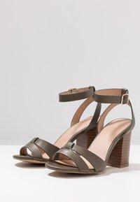 New Look - PENNY - High heeled sandals - dark khaki - 4