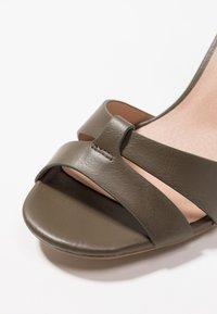 New Look - PENNY - High heeled sandals - dark khaki - 2