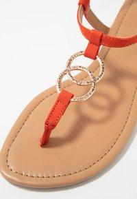 New Look - HOOPY  - T-bar sandals - burnt orange - 2