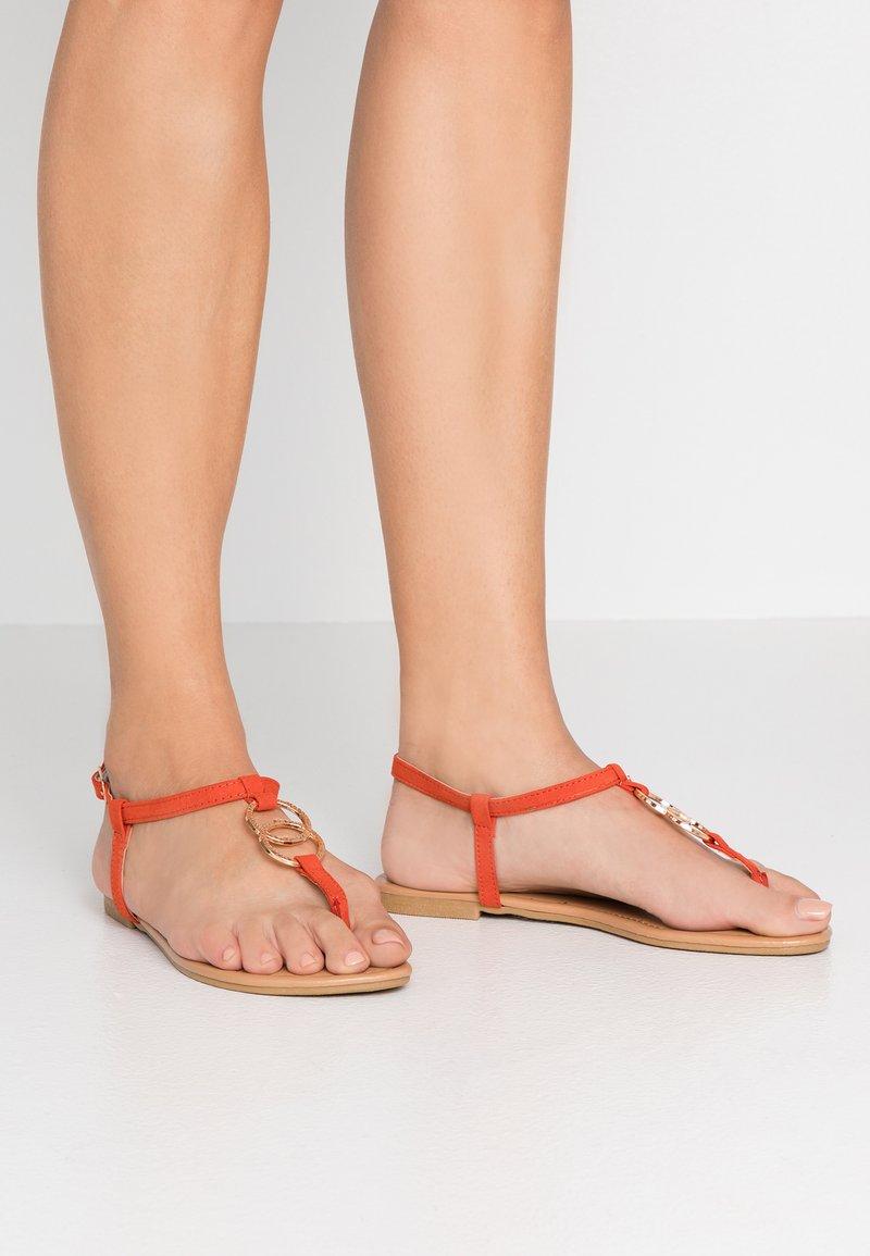 New Look - HOOPY  - T-bar sandals - burnt orange