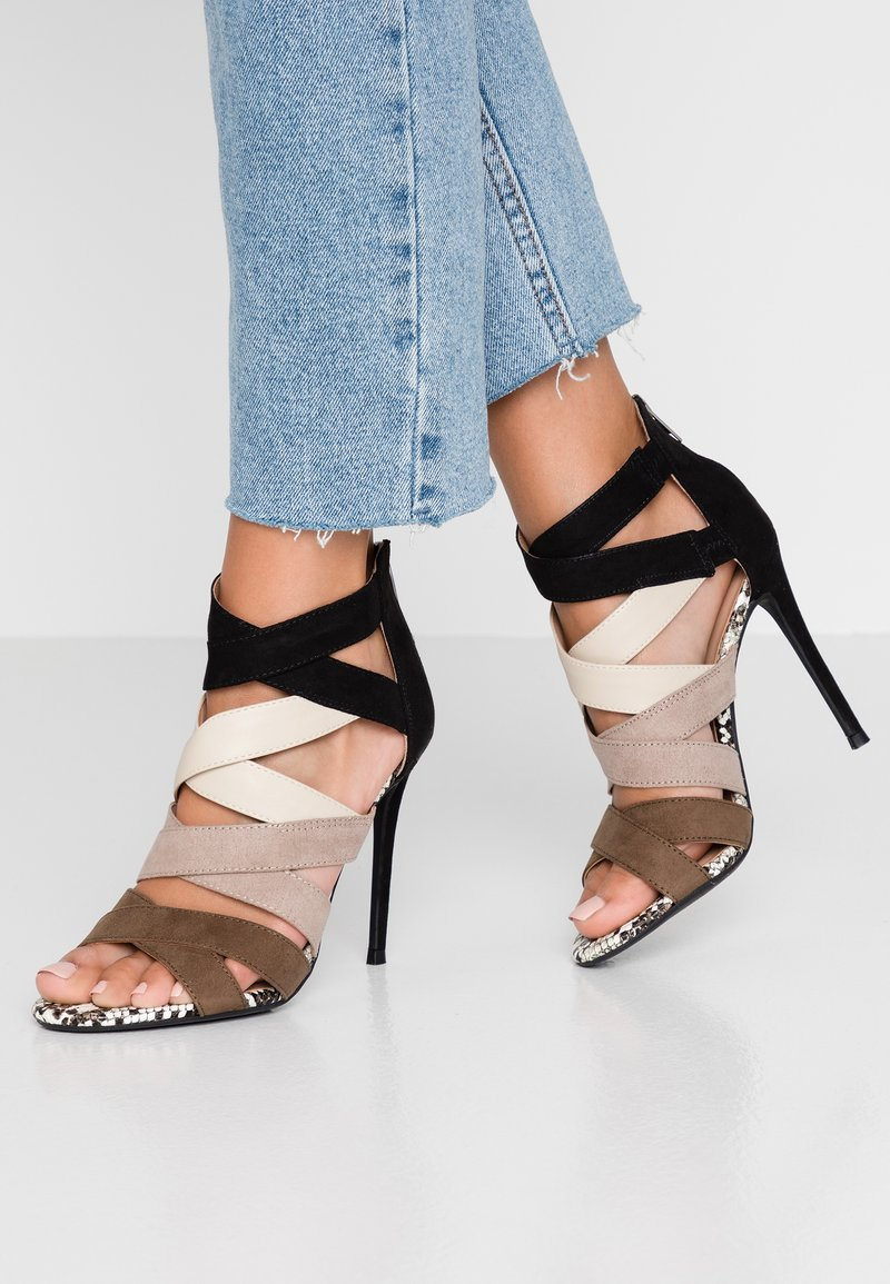 New Look - STRAP - High heeled sandals - brown
