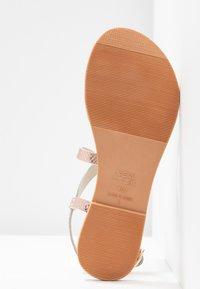 New Look - HAMMOCK - T-bar sandals - rose gold - 6
