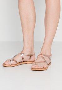 New Look - HAMMOCK - T-bar sandals - rose gold - 0