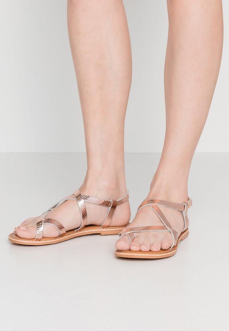 New Look - HAMMOCK - T-bar sandals - rose gold