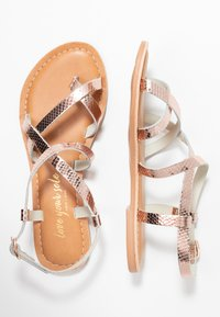 New Look - HAMMOCK - T-bar sandals - rose gold - 3