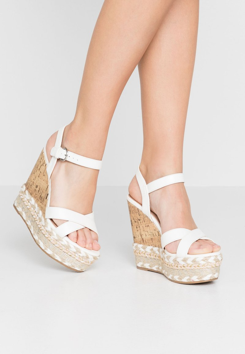 New Look - PROFFER - Sandalen met hoge hak - white