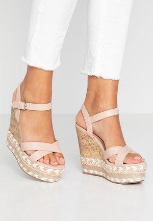 PROFFER - Sandály na vysokém podpatku - oatmeal