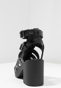 New Look - PEYTON - Platform sandals - black - 5