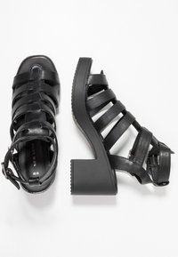 New Look - PEYTON - Platform sandals - black - 3