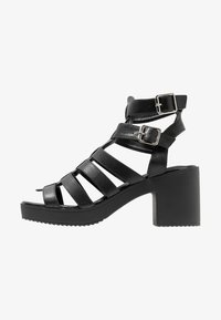 New Look - PEYTON - Platform sandals - black - 1