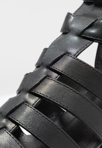 New Look - PEYTON - Platform sandals - black - 2