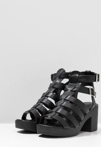 New Look - PEYTON - Platform sandals - black - 4