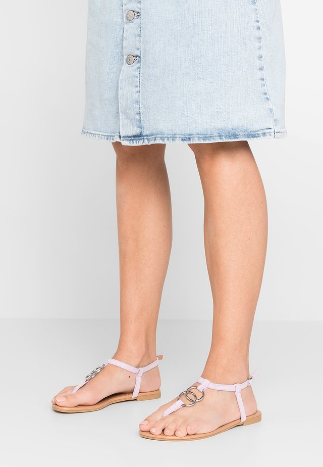 HOOPY - T-bar sandals - lilac