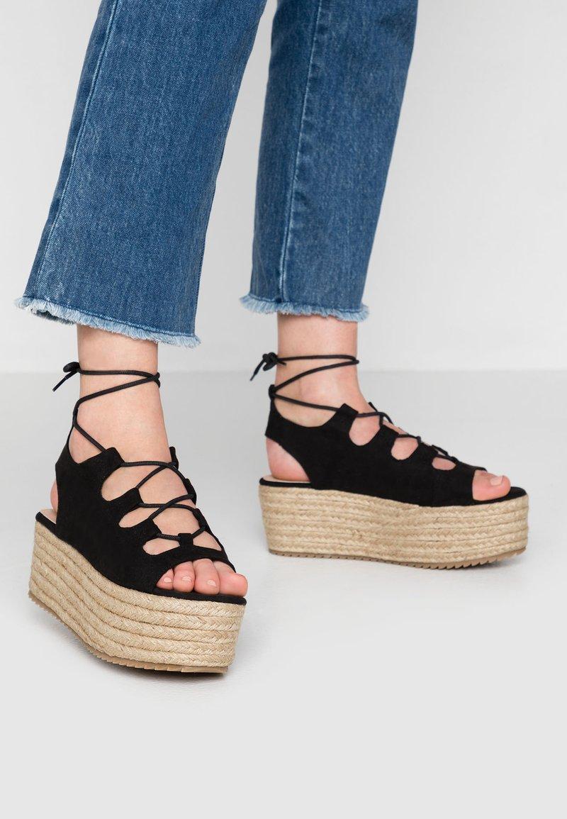 New Look - PACE - Sandalias con plataforma - black