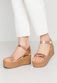New Look - PEANUT - Platform sandals - rose gold - 0