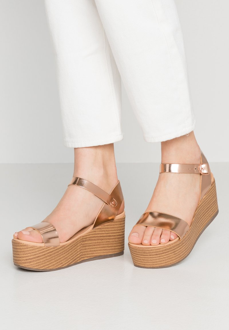 New Look - PEANUT - Platform sandals - rose gold