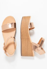 New Look - PEANUT - Platform sandals - rose gold - 3