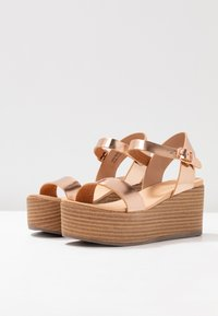 New Look - PEANUT - Platform sandals - rose gold - 4