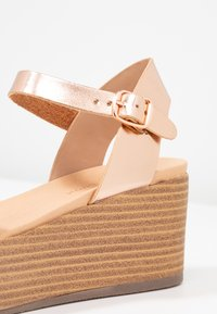 New Look - PEANUT - Platform sandals - rose gold - 2