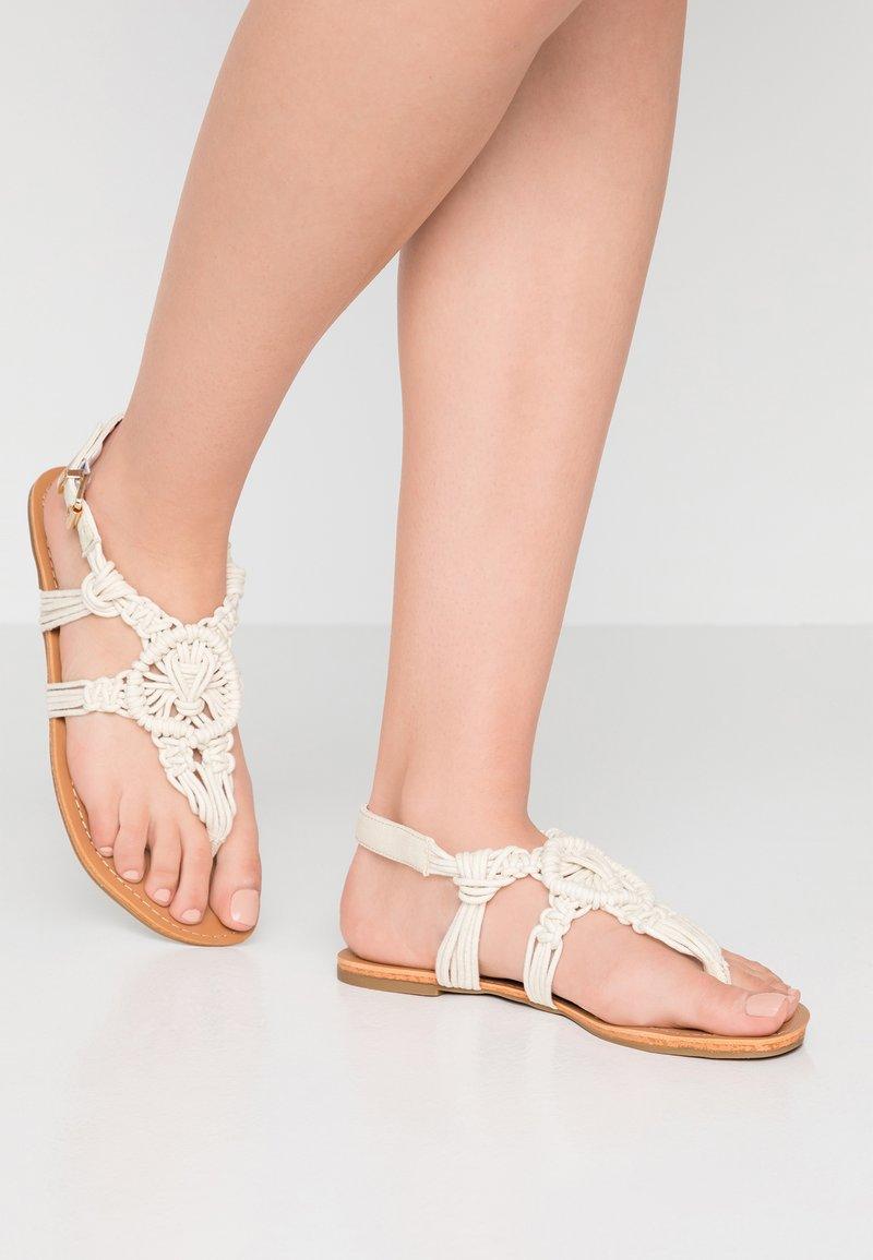 New Look - FASKET - Flip Flops - offwhite