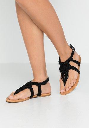 FASKET - Sandály s odděleným palcem - black
