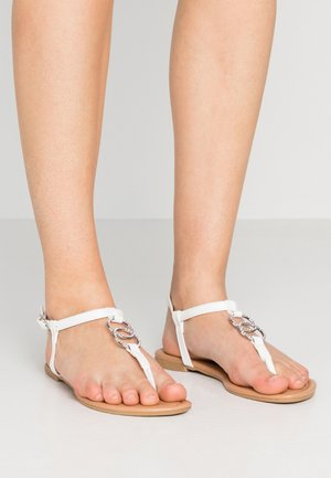 HOOPY  - T-bar sandals - white