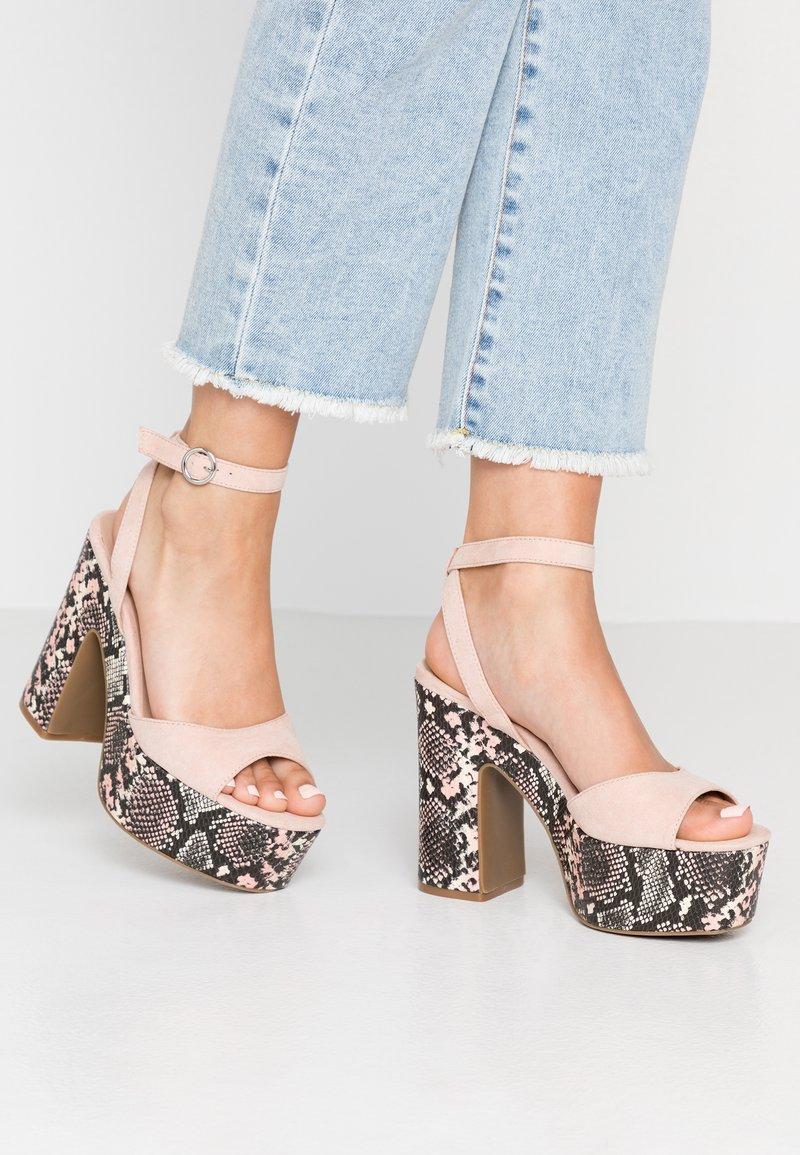 New Look - SCARED - Højhælede sandaletter / Højhælede sandaler - oatmeal