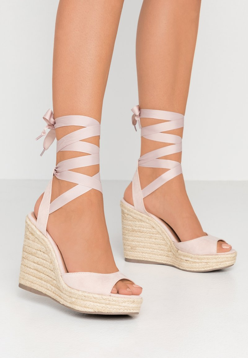 New Look - PADY - Sandalen met hoge hak - oatmeal