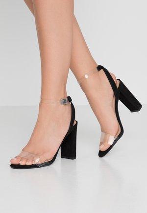 SHOKA - Sandalen met hoge hak - black