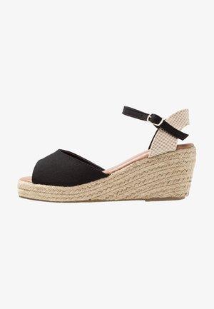 PAT - Sandały na platformie - black
