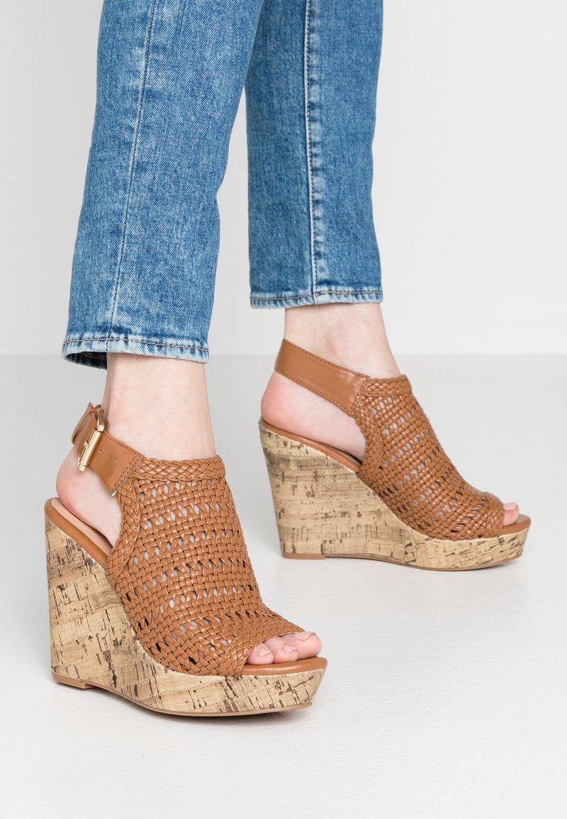 New Look - OLIVE - Højhælede sandaletter / Højhælede sandaler - tan