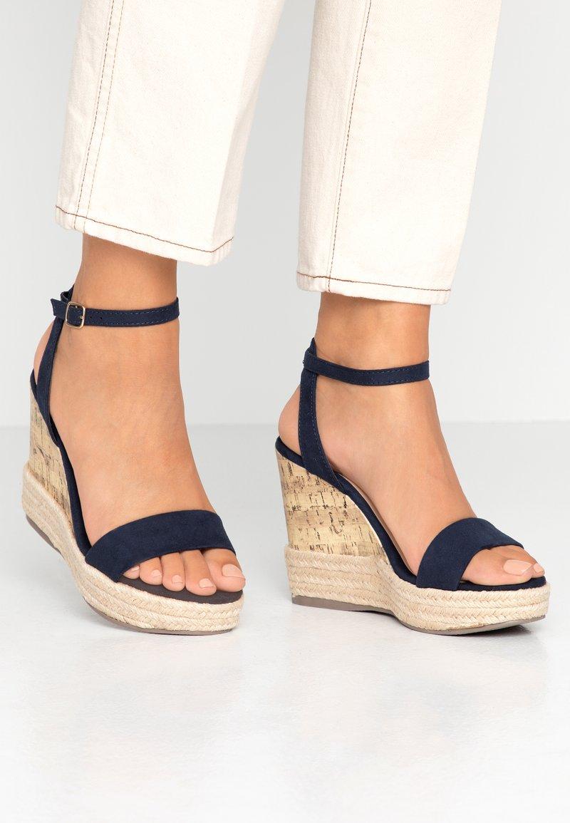 New Look - OTTER - Sandály na vysokém podpatku - navy