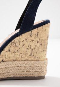 New Look - OTTER - Sandály na vysokém podpatku - navy - 2