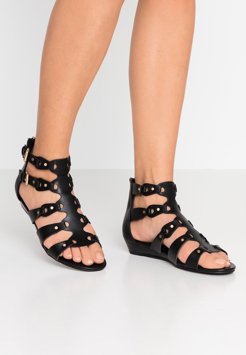 New Look - FANTASIA - Sandales compensées - black