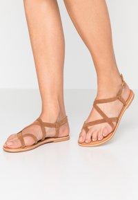 New Look - HAMMOCK - T-bar sandals - tan - 0