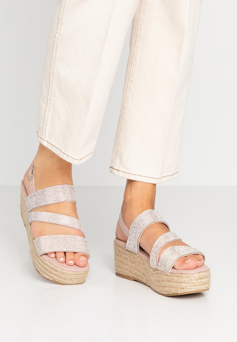 New Look - PLING - Platform sandals - oatmeal