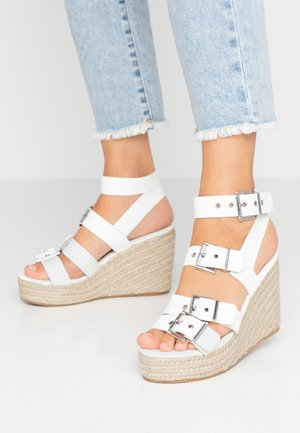 PUPPLE - High heeled sandals - white