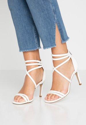 SIGNED  - High Heel Sandalette - white